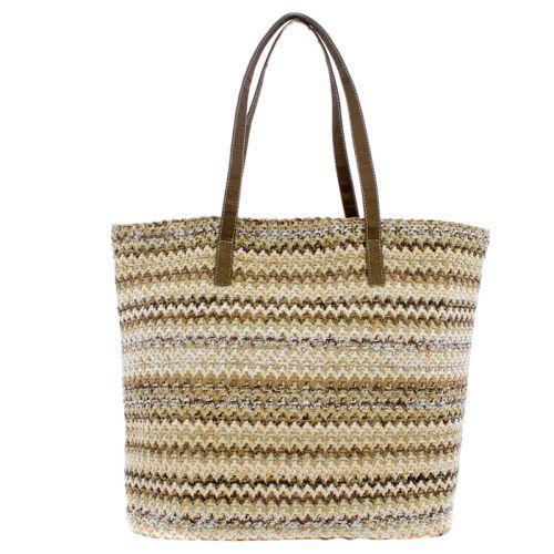Плетеная пляжная сумка Valex ЗигЗаг хаки