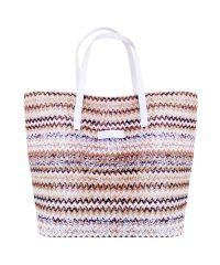 Плетеная пляжная сумка Valex ЗигЗаг белая