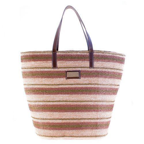 Плетеная пляжная сумка Valex корзинка полосатая