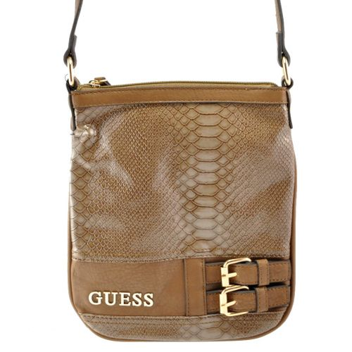 Коричневая сумка с застежками