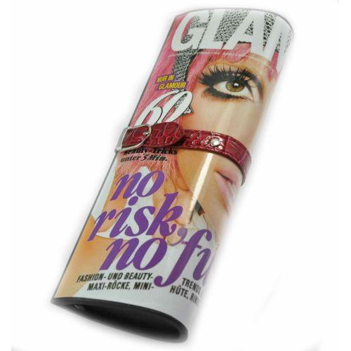 Клатч журнал Glamor бордовый