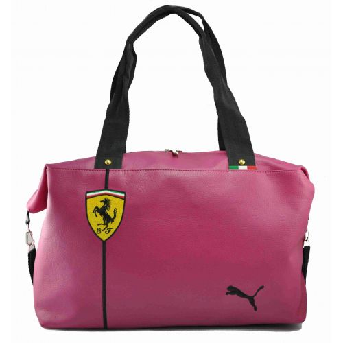 Спортивная сумка Puma Ferrari малиновая