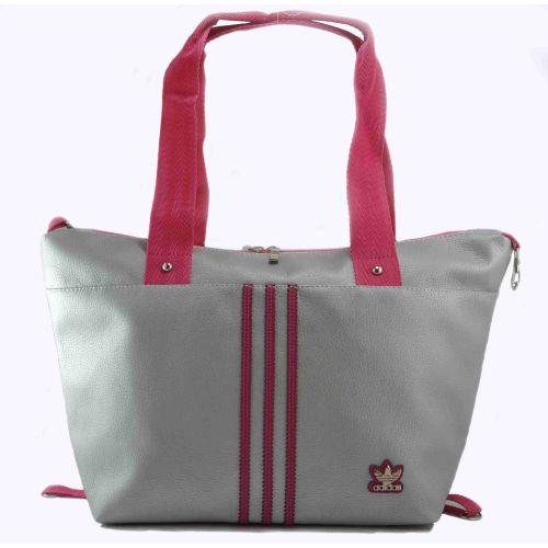 Спортивная сумка Adidas Sportif серебристая с малиновым