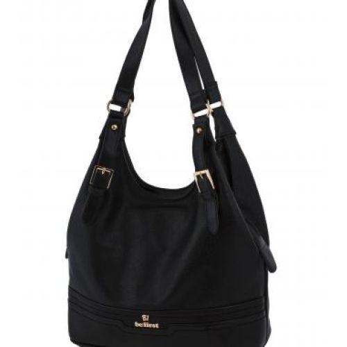 Женская сумка B1 T20111B мешок черная