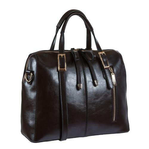 Женская сумка B1 A1252-2 кожаная шоколадная
