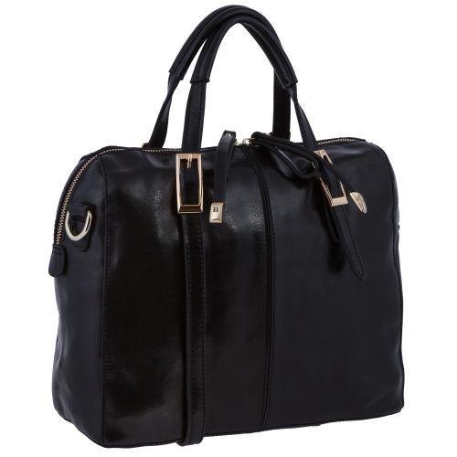 Женская сумка B1 A1252-2 кожаная черная