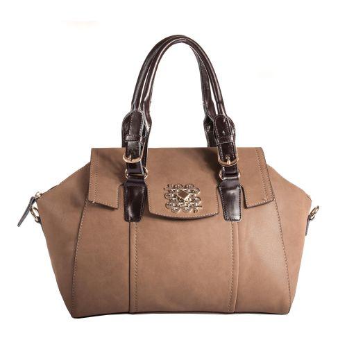 Женская сумка B1 T18770A темно - бежевая