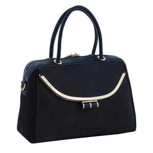Женская сумка B1 MB007 кожаная синяя