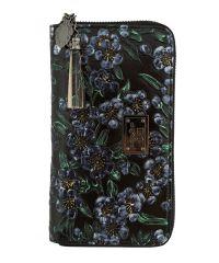 Женский кошелек B1 A01324R черный в цветы
