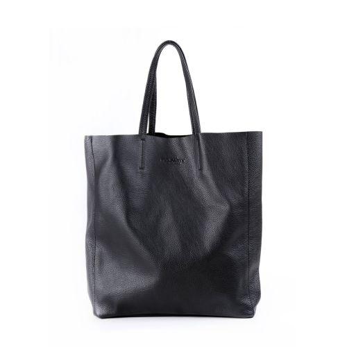 Женская кожаная сумка poolparty-city-black черная