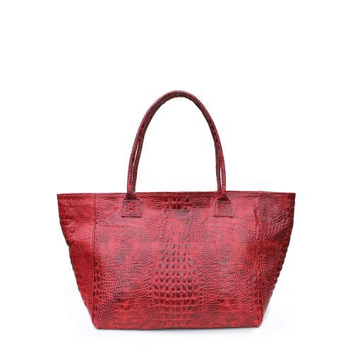 Женская кожаная сумка poolparty-desire-croco-red красная