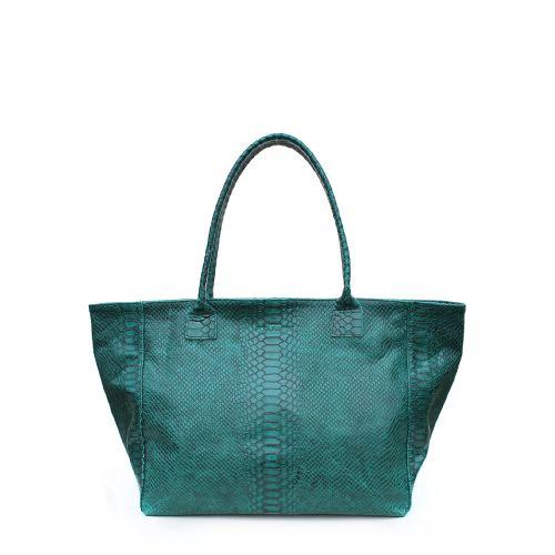 Женская кожаная сумка poolparty-desire-green-snake зеленая