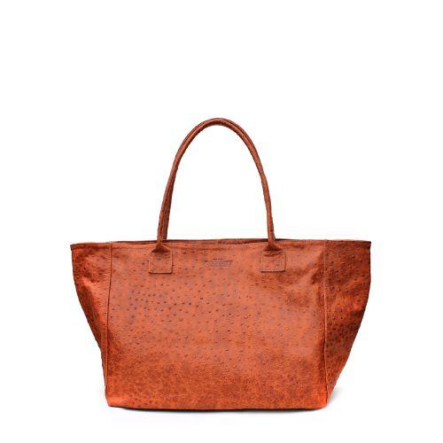 Женская кожаная сумка Poolparty desire-struzzo-orange рыжая