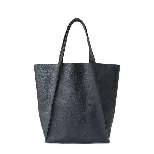 Женская кожаная сумка poolparty-edge черная