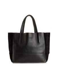 Женская кожаная сумка poolparty-soho-black-velour черная