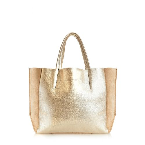 d958f060c854 Женская кожаная сумка poolparty-soho-gold-beige золотая купить в ...