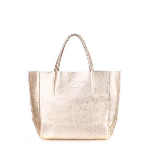 Женская кожаная сумка poolparty-soho-gold золотая