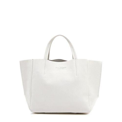 Женская кожаная сумка poolparty-soho-white белая