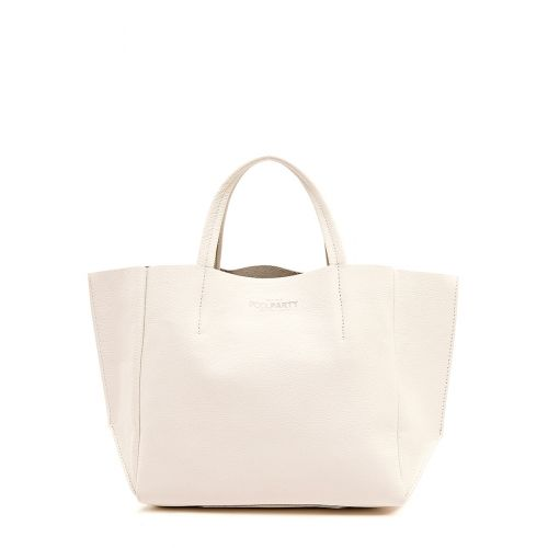 Женская кожаная сумка Poolparty soho-cream молочная