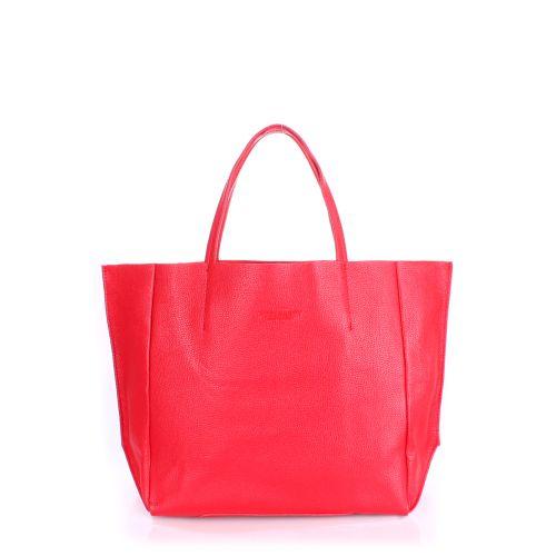 Женская кожаная сумка Poolparty soho-red красная