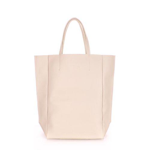 Женская кожаная сумка poolparty-bigsoho-beige бежевая