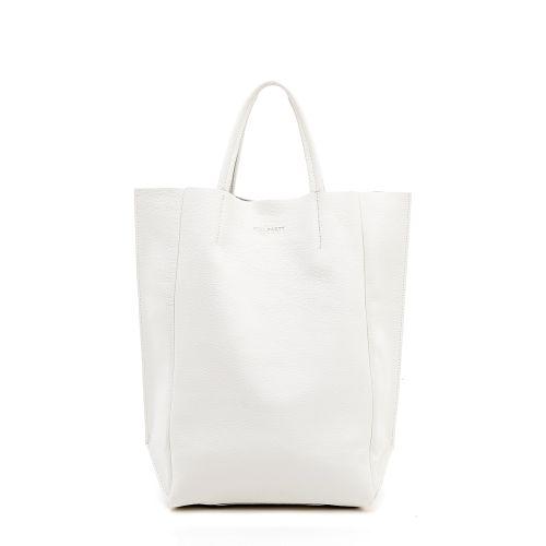Женская кожаная сумка poolparty-bigsoho-white белая
