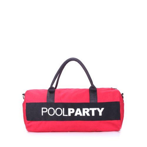 Спортивная сумка Poolparty poolparty-gymbag-red-black