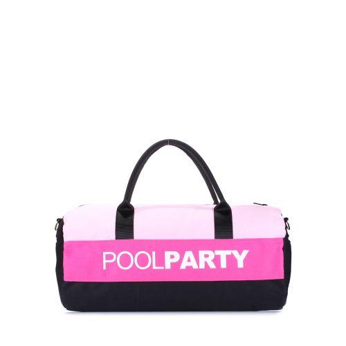 Спортивная сумка Poolparty poolparty-gymbag-rose-pink-black