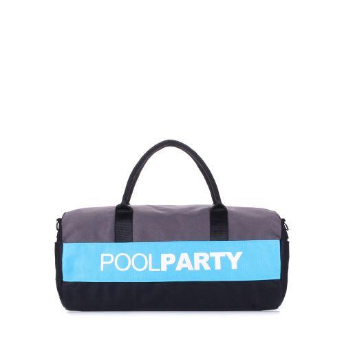 Спортивная сумка Poolparty poolparty-gymbag-grey-blue-black