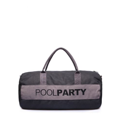 Спортивная сумка Poolparty poolparty-gymbag-black-grey
