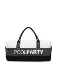 Спортивная сумка Poolparty poolparty-gymbag-white-grey-black