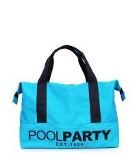 Спортивная сумка Poolparty Original голубая с черным