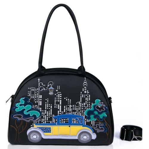 Женская сумка Alba Soboni А 141506 саквояж украинская машинка черная