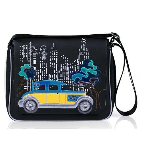 Женская сумка Alba Soboni А 141521 через плечо украинская машинка черная