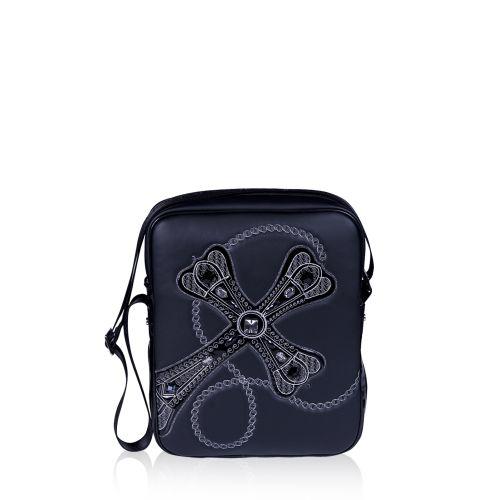 Женская сумка Alba Soboni А 141454 с крестом черная