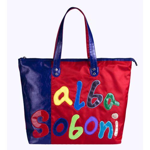 Женская сумка Alba Soboni А 141290 сине-красная