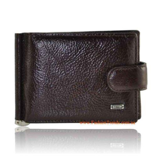 Зажим для денег Bretton M35-Z кожаный коричневый