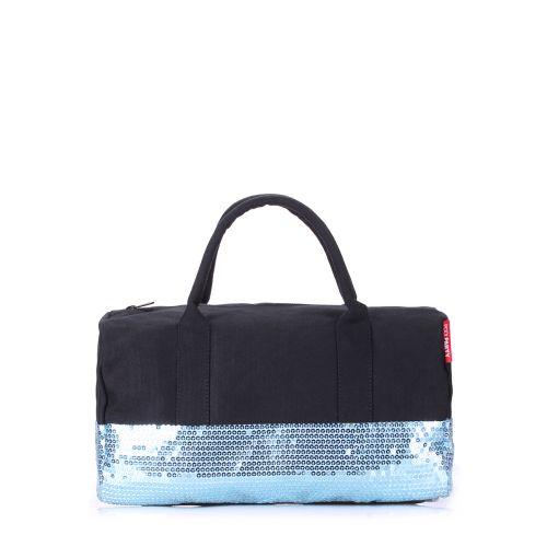 Женская сумка Poolparty rocknroll-black-blue