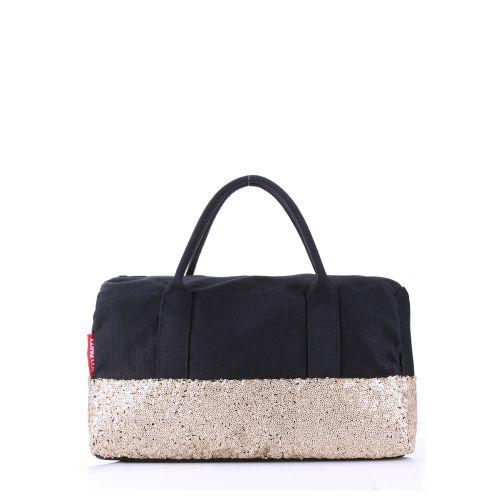 Женская сумка Poolparty rocknroll-black-gold