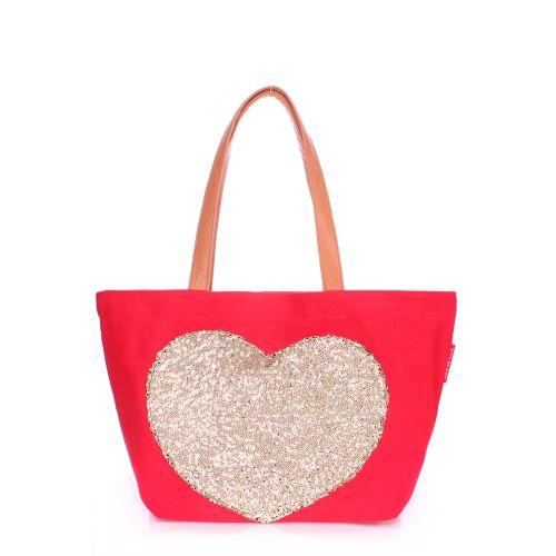Женская сумка Poolparty pool-lovetote-red