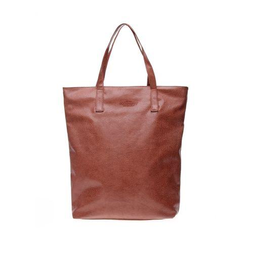 Женская сумка Poolparty Tulip Tote Snake коричневая