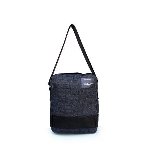 Мужская сумка Poolparty Jeans Messenger Denim Bag синяя