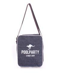 Мужская сумка Poolparty Jeans Safary Crossbody Bag синяя