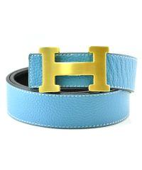 Ремень H голубой