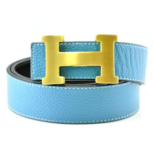 Ремень Hermes голубой