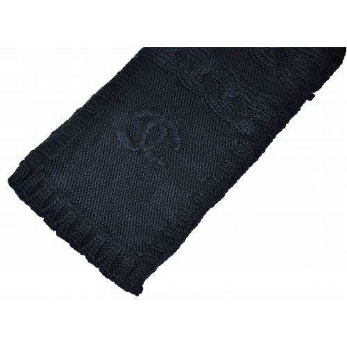 Вязаный шарф Chanel черный