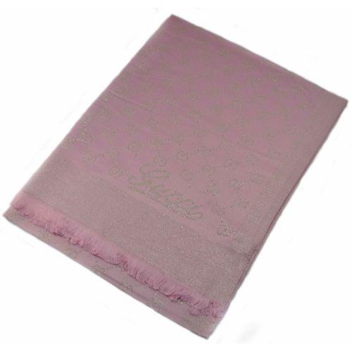 Шарф Shine розовый с золотым