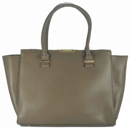Женская сумка Victoria Beckham Quincy Bag темно - бежевая