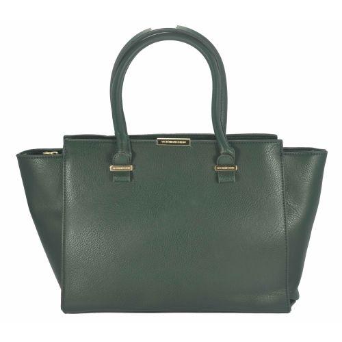 Женская сумка Victoria Beckham Quincy Bag уголки зеленая
