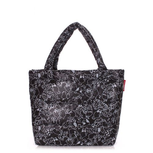Дутая сумка Poolparty pp4-cats-black